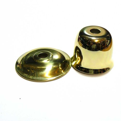 Brass Plated Sconce and Solid Brass Bobeche Dish